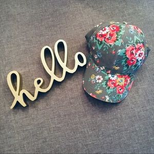 Accessories - Floral Baseball Hat